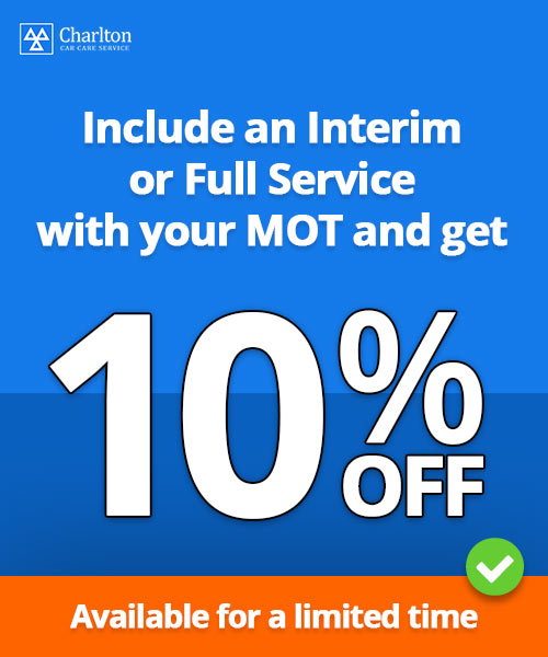 Save 10% with an MOT and Service